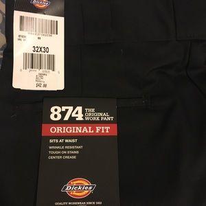 Men Black Dickies 874 Work pants size 32X30